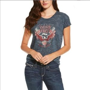 Ariat Born Free Eagle Tee T Shirt Top